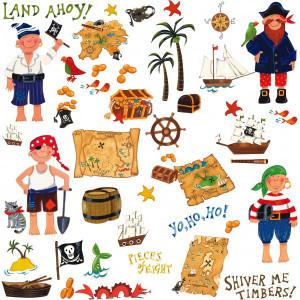 Treasure Hunt Pirate Wall Stickers