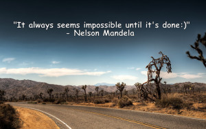 Inspirational Quote By Nelson Mandela