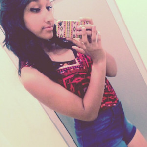 ... wasted shorts cute curly hair mexican hispanic latina makeup swag girl