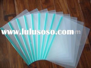 pvc transparent zipper pouch pvc ziplock file bag with slider