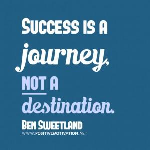 motivational quote about success, a journey
