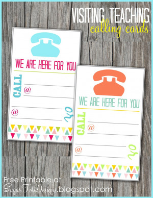 August Visiting Teaching Message {free calling card}
