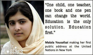 Quotes of Malala Yousafzai, I Am Malala Book Download, I Am Malala ...