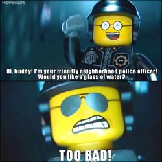 good cop bad cop one of our favorite scenes from the lego movie