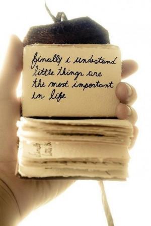 Geluk zit in kleine dingen