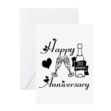 Funny 30th wedding anniversary Greeting Cards (Pk of 10)