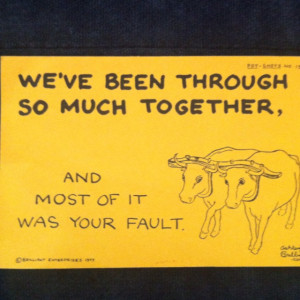 Always easier to blame someone else.