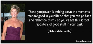 Thank you power' is writing down the moments that are good in your ...