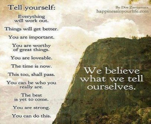 Quotes on tell yourself everything will work out