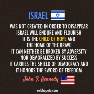 Quote John F Kennedy Israel