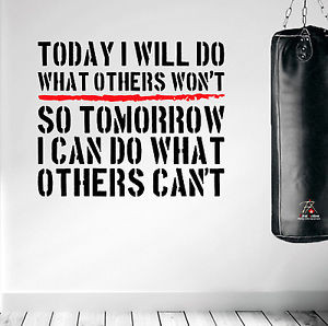 Details about Inspiring Wall Decal Quote Boxing MMA UFC Wrestling Gym ...