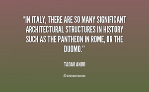 In Italy, there are so many significant architectural structures in ...