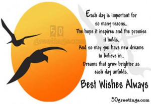 Best wishes always