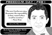 ... nonviolence feb 1 freedom day freedom quote no nukes quote peace quote