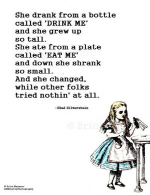 she changed alice in wonderland inspirational quotes erica massaro ...