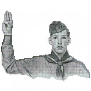 ALL STITCHES - VINTAGE BOY SCOUT CROSS STITCH PATTERN .PDF -596