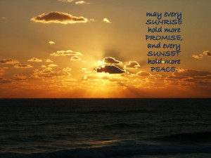 Sunrise Blessing Prayer Quote Inspirational Ocean Shore Beach Dawn ...