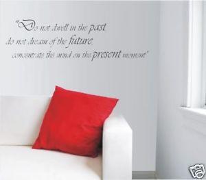 Vinyl Wall Art Sticker Decal - Buddha Quote