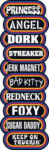 Retro Sayings Vending Stickers Refill 300ct