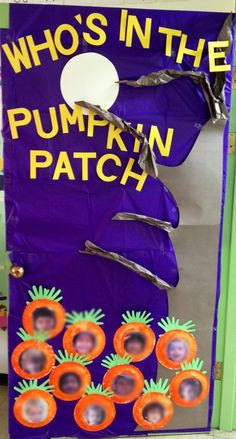 Halloween door preschool pumpkin patch. Image only would not only look ...