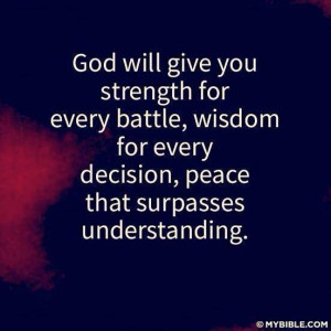 God Will Give You Strength!