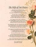 Inspirational Christian Poetry - Poems - The Wife Of Our Pastor