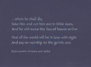 Shakespeare Quotes Love Romeo And Juliet