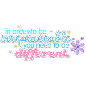 Being Different Myspace Quote Graphics - Myspace Quotes