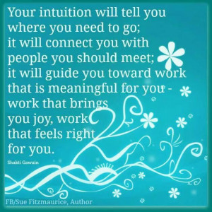Your intuition...