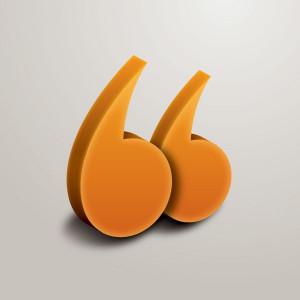 Quotes Vector Graphic — symbol, quote, 3d