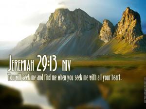 Jeremiah 29:13 – Seek With All Your Heart Papel de Parede Imagem