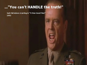 Jack Nicholson starring as Col. Jessup in A FEW GOOD MEN. 1992 YOU CAN ...