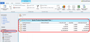 ... column to the Quote Products Order Products and Invoice Products views