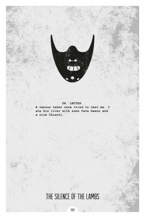 Minimalist Movie Posters with Iconic Quotes by DopePrints