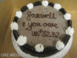 Fare Well Quotes For Cake Quotesgram