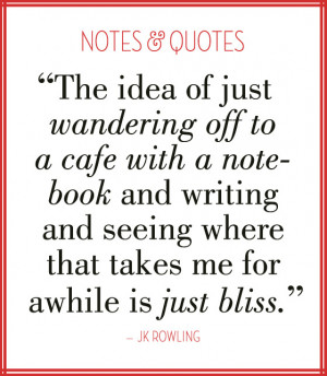 Writing quote by J.K. Rowling: Notes & Quotes Series by EuropeanPaper ...