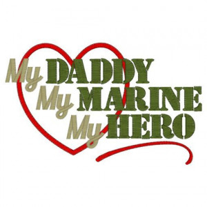 SAMPLE SALE My Daddy My Marine My Hero by TheLittleJoyShop on Etsy, $ ...