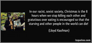 Our Racist Sexist Society...