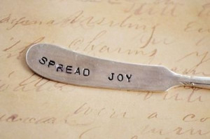Spread Joy: Hand stamped, upcycled, vintage silver knife ...