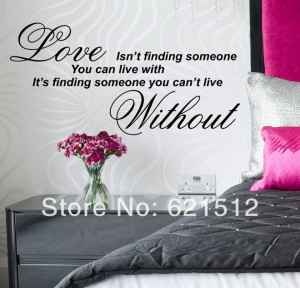 ... Lovers Words Quote Decals Romantic Love Sayings(China (Mainland