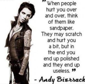 Andy 'Sixx' Biersack BVB Andy Biersack Quotes