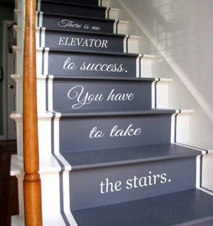 Wall Decals Quote Life Quotes Staircase Stairway Stairs Phrase Art ...