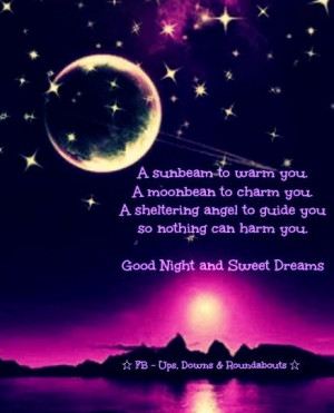 Good night and sweet dreams quote via Ups, Downs, & Roundabouts at www ...