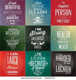 Set Of Vintage Typographic Backgrounds / Motivational Quotes / Retro ...