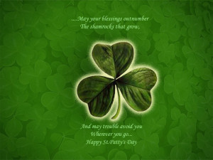Happy St. Patrick's Day 2012 PowerPoint Backgrounds Free Download