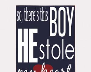 Boy Stole My Heart - Wooden Sign - Nursery Decor - Boys Room Wall ...