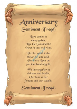 Our Love Anniversary Poem - Unusual Laminated Gift on eBid United ...