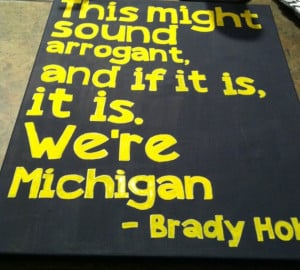 Michigan College Football 16 in x 20in canvas quote. $30.00, via Etsy.