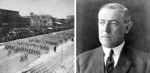 ... Woodrow Wilson, 1913, left; President Woodrow Wilson, right