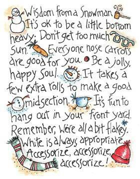 Christmas Time, Snowmen, Christmas Cheer, Snowman Wisdom, Quote ...